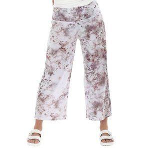 Paper Label Amber Crop Pant Pink Print Size Medium